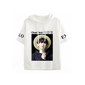 Áo Thun Tay Lỡ Có Mũ Chan Yeol Exo Kpop