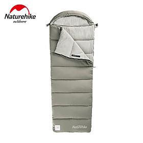 Túi ngủ Naturehike NH20MSD02 Model M180, du lịch, văn phòng, hở chân, ghép đôi, mũ trùm giặt máy
