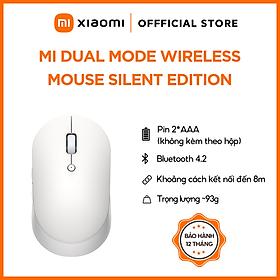 Chuột Không Dây Xiaomi Mi Dual Mode Wireless Mouse Silent Edition - Màu trắng - Hàng Chính Hãng