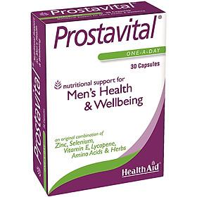 Thực phẩm bảo vệ sức khỏe đến từ Anh Quốc - Viên cải thiện triệu chứng, ngăn ngừa và hạn chế sự hình thành u xơ trong phì đại tiền liệt tuyến lành tính HEALTH AID PROSTAVITAL (Hộp 30 viên)
