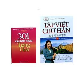 Bộ sách 301 câu đàm thoại tiếng hoa bản màu, tập viết chữ hán biên soạn theo 301 câu đàm thoại tiếng Hoa (tặng sách ngẫu nhiên)