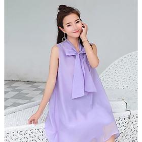 Đầm bầu váy bầu suông thắt nơ mùa hè DN19072509
