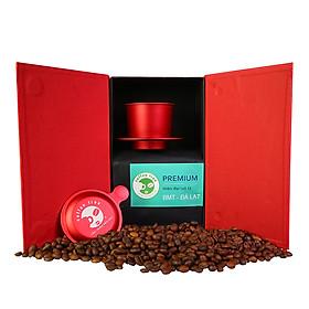 Hộp Quà Tài Lộc Coffee Tree - Cà phê nguyên chất cao cấp loại hiện đại Coffee Tree - Phin Nhôm pha cà phê cao cấp khắc logo lazer đẹp pha chuẩn