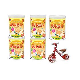 5 Hộp Sữa Morinaga Số 2 - Chilmil (850g) - Tặng xe chòi chân thăng bằng cho bé