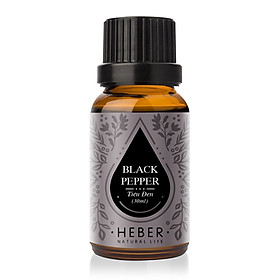 Tinh Dầu Tiêu Đen Black Pepper Essential Oil Heber | 100% Thiên Nhiên Nguyên Chất Cao Cấp