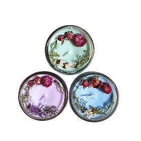 Combo 3 nến thơm tinh dầu 100g: 1 Bạc hà, 1 lavender, 1 Hương Thảo, giúp thư giãn, thơm phòng khử mùi, handmade