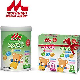 Sữa Morinaga Số 3 Kodomil Hương Vani 850g + Tặng Hộp Sữa Số 3 Kodomil 216g (Vị Ngẫu Nhiên)