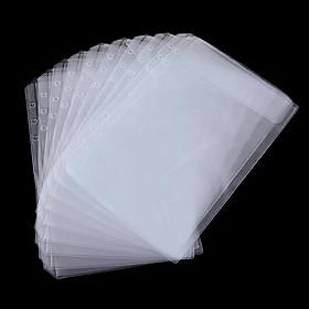 10 Binder Pocket 6 Holes Notebook Binder Loose Leaf Bag Collection Bags
