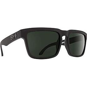 Spy Optic Helm Polarized Flat Sunglasses, Soft Matte Black/Happy Gray/Green Polar, 57 mm