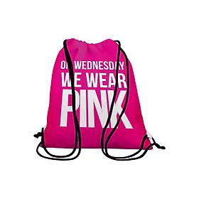 Hình đại diện sản phẩm Túi Dây Rút Unisex In Hình On Wednesday We Wear Pink - BDTE113