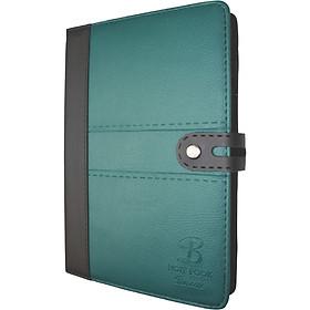 Sổ da khuy bấm 260 trang B5 Klong Bureau - TP345 màu xanh