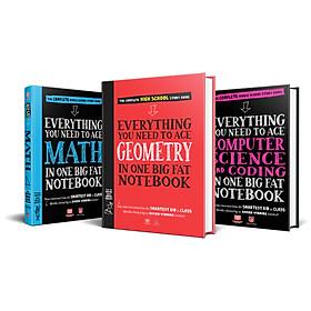 Sách - Everything you need to ace Chemistry, Geometry, Computer Science and Coding - sổ tay hình học, hóa học, máy tính - Á Châu Books ( bộ 3 , tiếng anh )