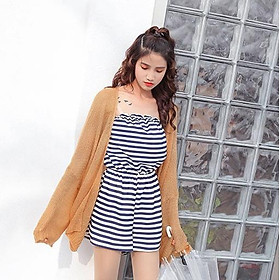 Áo khoác len mỏng dáng dài phong cách Hàn Quốc thanh lịch dành cho nữ