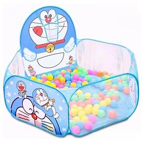 Lều bóng Đôremon tặng kèm 100 quả bóng mềm cho bé
