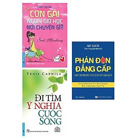 Combo 3 Cuốn Sách Kỹ Năng Cực Hay Thay Đổi Con Người Bạn: Phản Đòn Đẳng Cấp + Đi Tìm Ý Nghĩa Cuộc Sống - Tái Bản + Con Gái Ngoài Giờ Học Nói Chuyện Gì? (Tái Bản) / Tặng Kèm Bookmark Happy Life