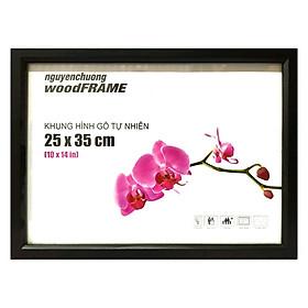 Khung Hình Gỗ Tự Nhiên 25 x 35 cm - Khung Đen