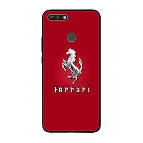 Ốp lưng dành cho điện thoại Huawei Y6 Prime 2018 in họa tiết Logo F E R R A R I