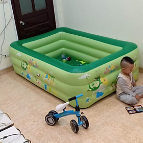 Bể bơi phao gia đình chính hãng YOYO 180 x 140 x 60 cm (tặng kèm bơm điện)
