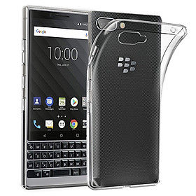 Ốp lưng silicon dẻo cho Blackberry Key 2 (trong suốt)