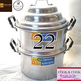 Chõ hấp xôi, chõ đồ xôi size 22 nhôm Đồ 1, 2 cân gạo