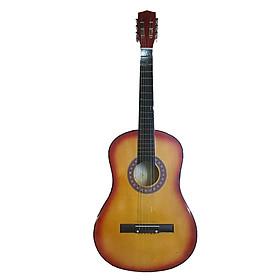 Đàn Guitar acoustic GU03 màu nâu đất dáng D