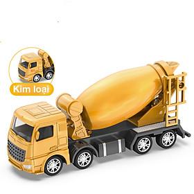 Đồ chơi mô hình xe trộn bê tông KAVY NO.8809 chất liệu hợp kim và nhựa nguyên sinh an toàn, chi tiết sắc sảo