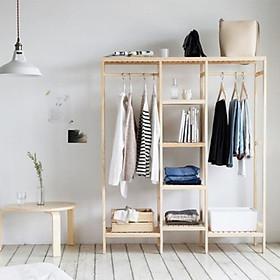 Tủ treo quần áo gỗ tự nhiên