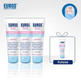 Set 3 tuýp Lotion dưỡng ẩm cho bé EUBOS 125ml tặng gel tắm gội cho bé EUBOS 125ml