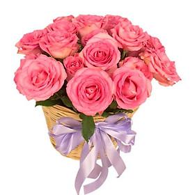 Giỏ hoa tươi - Sắc Hồng Độc Đáo 3994