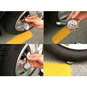 Đồng hồ đo áp suất lốp xe ô tô xe máy - Loại đồng hồ cơ