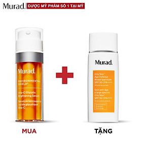 Serum làm sáng da Murad Vita-C Glycolic Brightening 30ml TẶNG Kem chống nắng City Skin Age Defense SPF 50 PA++++ 50ml