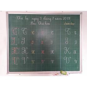Bảng từ xanh viết phấn kẻ ô li tiểu học kích thước : 1x1,2m