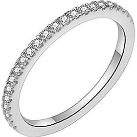 Bạc thật 100% Nhẫn bạc nữ phong cách cổ điển Đính Đá - Kèm hộp (NN.A17)