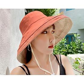 Mũ rộng vành vải hai mặt chống nắng phong cách hàn quốc