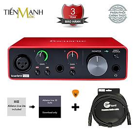 Sound Card Âm Thanh Focusrite Scarlett 2i2 Gen 3 - USB Audio Interface With Pro Tools (3rd Generation) - Kèm Móng Gảy DreamMaker