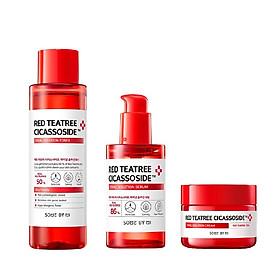 Bộ 3 Sản Phẩm Làm Dịu, Phục Hồi Da Some By Mi Red TeaTree Cicassoside Derma Solution Gồm Toner 150ml + Serum 50ml + Kem 60g (Tặng Kèm 1 Mặt Nạ Dr.Morita)
