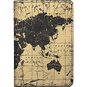 Bao Da Hộ Chiếu / PASSPORT Mika V-008-005-P (19 x 14 cm) - Nâu