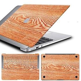 Bộ ba màng dán bảo vệ mặt trên + dưới + bàn phím chuyên dụng cho Apple MacBook Air(2017) - Màu nâu nhạt vân gỗ