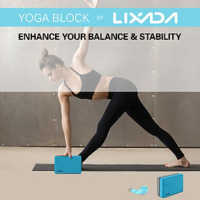 Lixada 2 Pack Yoga Blocks with Yoga Strap EVA Foam Exercise Yoga Blocks Bricks Set for Stretch Flexibility Alignment-7