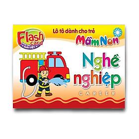 Hình đại diện sản phẩm Combo 10 Hộp Flash card song ngữ Anh Việt - Lô tô cho trẻ mầm non - Chủ đề: Nghề nghiệp