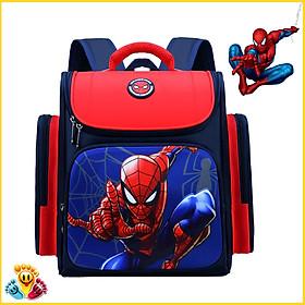 Balo chống gù cho bé trai in hình người nhện siêu nhân, đội trưởng, cặp sách bé trai đi học cấp 1 2 E105