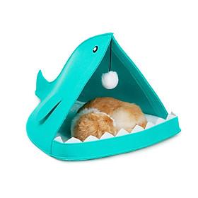 Nhà Lều Cá Mập Dễ Thương Cho Chó Mèo Nhỏ (giao màu ngẫu nhiên)
