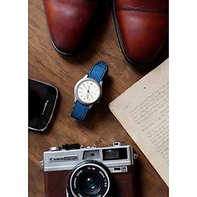 Dây đồng hồ RAM Classic 1963 Coban - Da bò lộn xanh coban