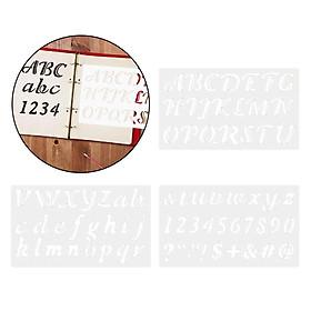 3Pcs Alphabet Letter Numbers Signs Stencils Template Scrapbook DIY Painting