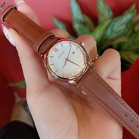 Đồng hồ nữ Julius Hàn Quốc JA-1309 dây da