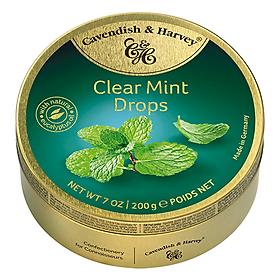Kẹo trái cây Cavendish & Harvey vị Clear Mint hộp 200gr
