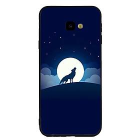 Ốp lưng viền TPU cao cấp cho điện thoại Samsung Galaxy J4 Plus -Sói 02