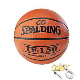 Quả bóng rổ Spalding TF-150 S7 có kim bơm, lưới đựng bóng