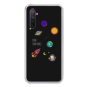 Ốp lưng điện thoại Realme 5 Pro - Silicon dẻo - 0510 SPACE06 - Hàng Chính Hãng