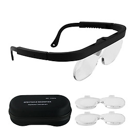 KKmoon 1.5/2.5/3.5X Magnifying Glasses Magnifying Headset Head Mounted Jewelry Loupe Magnifier with Multiple Lens for
